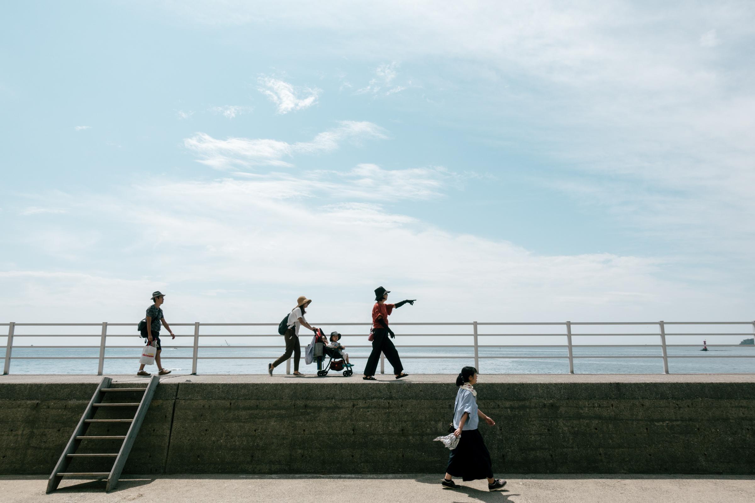 日間賀島 堤防